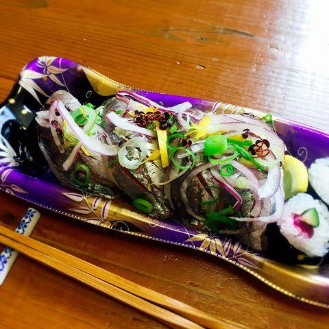 鯵のにぎり寿司2017
