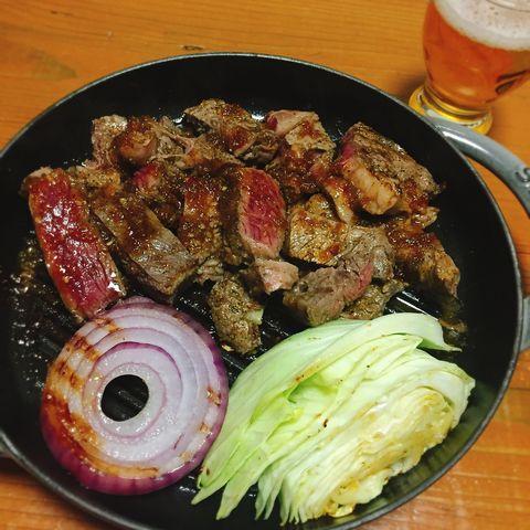 肉の日のステーキ