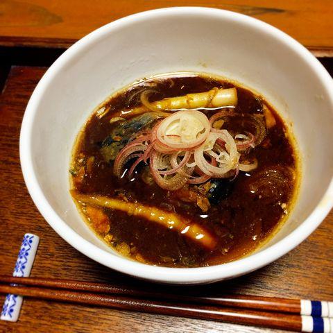 鯖缶味噌汁