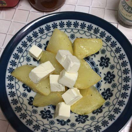 クリームチーズをなじませる