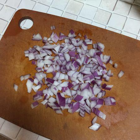 紫玉ねぎは粗みじん切り