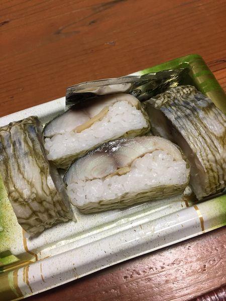 和歌山のスーパーマーケットで購入した鯖寿司