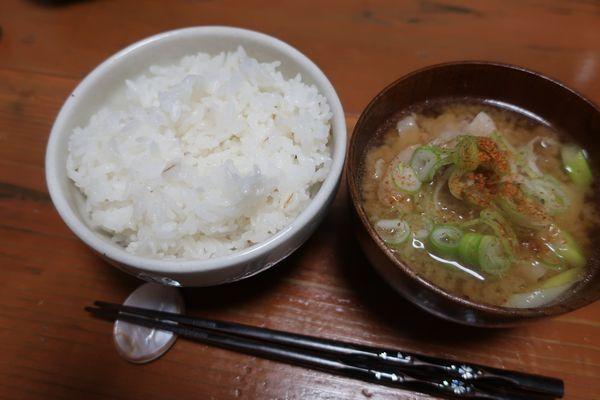 無洗米を鍋で炊きました