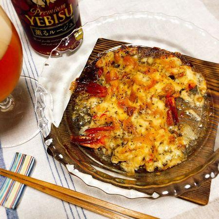 海老のチーズ焼き しっかり焼き