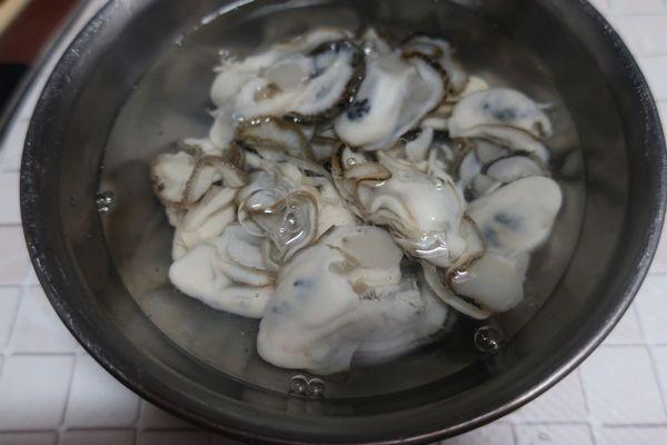 牡蠣の下処理②