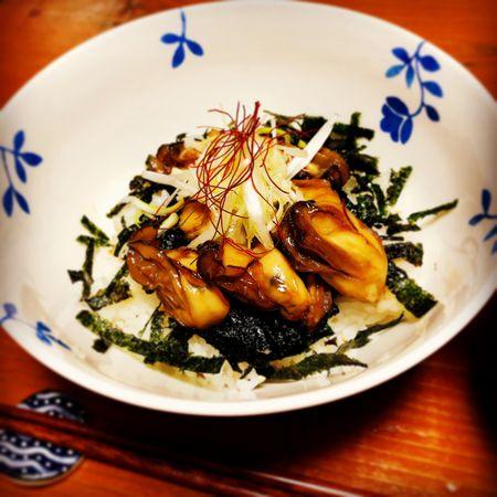 牡蠣のピリ辛照り焼き丼
