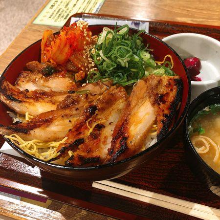 キムチ豚かば丼