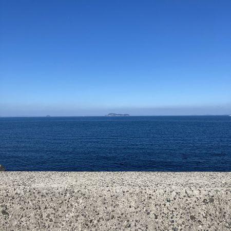 快晴の瀬戸内海