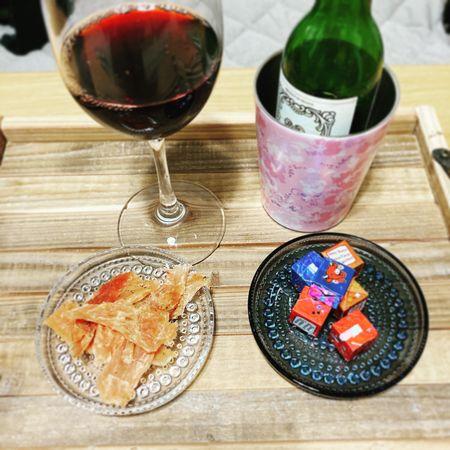 赤ワインで晩酌
