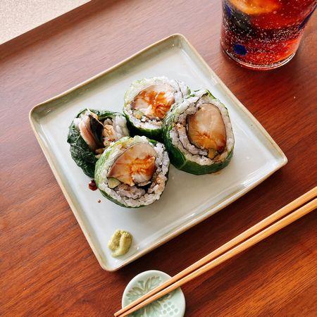 鯖の広島菜巻き